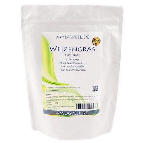 Amlawell Weizengraspulver 500g / aus deutschem Anbau / Rohkostqualität