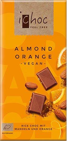 Bio Schokolade Almond Orange Rice, Vegan