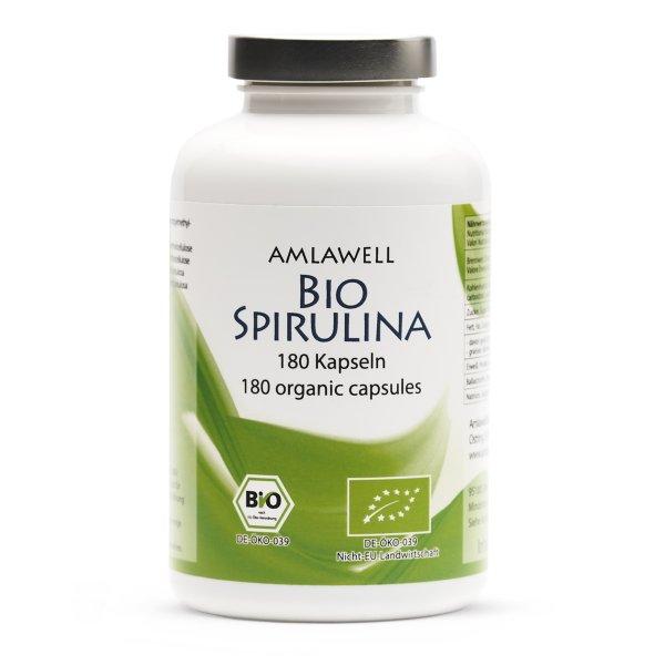 Amlawell Bio Spirulina / 180 Kapseln / DE-ÖKO-039