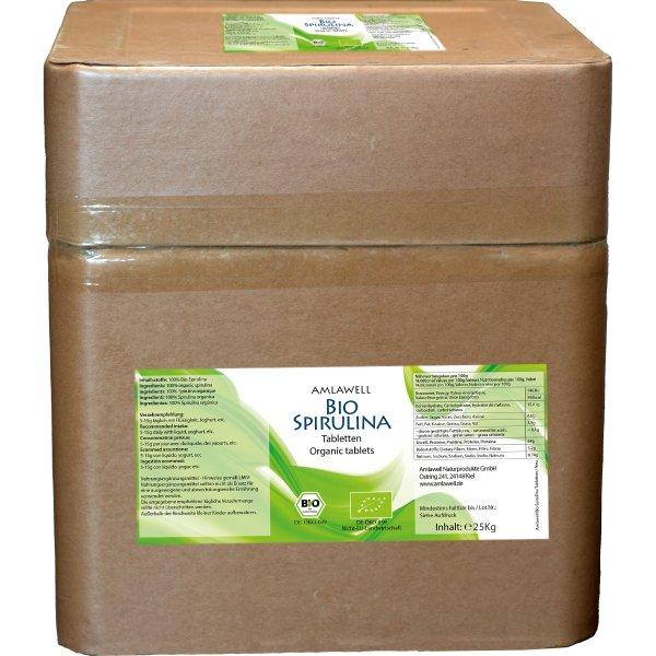 Amlawell Bio Spirulina Tabletten / 25 kg / DE-ÖKO-039
