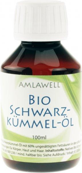 Natives Bio-Schwarzkümmelöl von Amlawell, 100ml