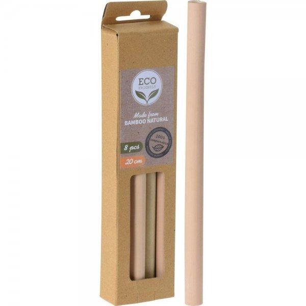 Trinkhalm aus Bambus, 8 Stück, 20 cm Länge