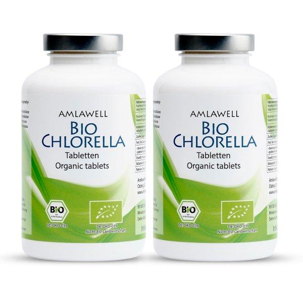 Amlawell Bio Chlorella Tabletten / 500 g Doppelpack / DE-ÖKO-039