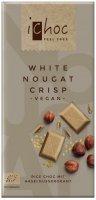 Bio Schokolade White Nougat Crisp- Rice , Vegan