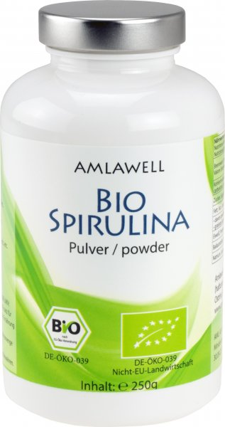 Amlawell Bio-Spirulina Pulver / 250g / DE-ÖKO-039