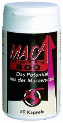 Maca 800, 50 Kapseln mit je 800mg reinem Macapulver
