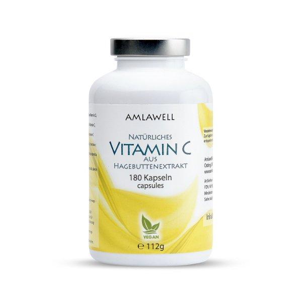 Amlawell natürliches Vitamin C Kapseln / 180 Stück