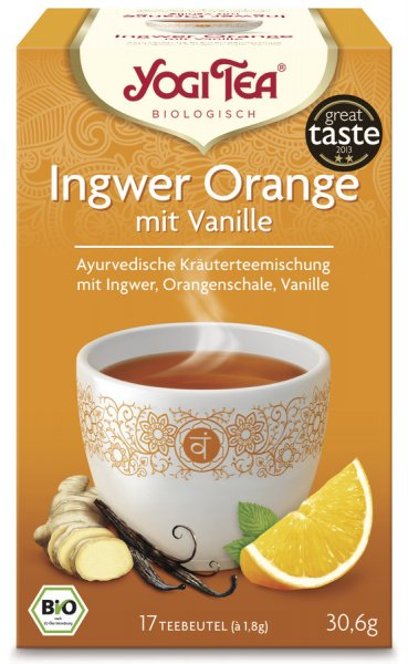 Ingwer Orange von Yogi Tea