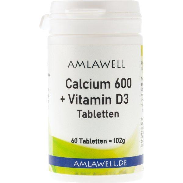 Calcium 600 + Vitamin D3 Tabletten, 60 Tabletten