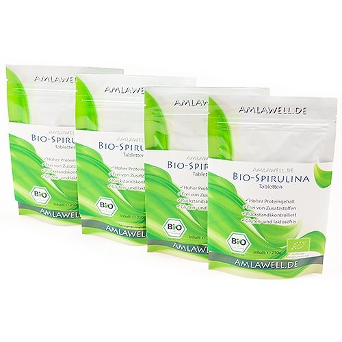 Amlawell Bio Spirulina Tabletten / 1000g / DE-ÖKO-039-Copy