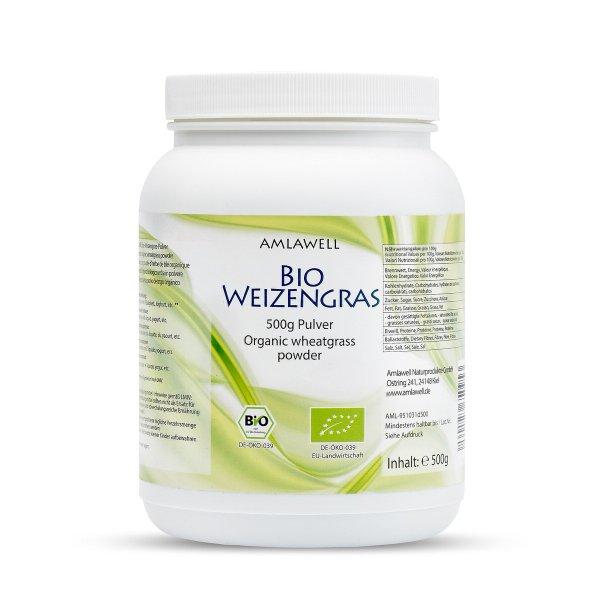 Amlawell Bio Weizengras Pulver / 500 g / Dose / DE-ÖKO-039