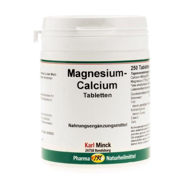 Magnesium-Calcium Tabletten, 250 Stück