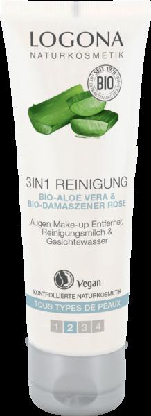 3in1 Reinigung mit Aloe-Vera & Damaszener Rose