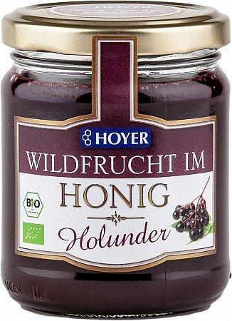 Bio-Holunder Wildfrucht in Honig