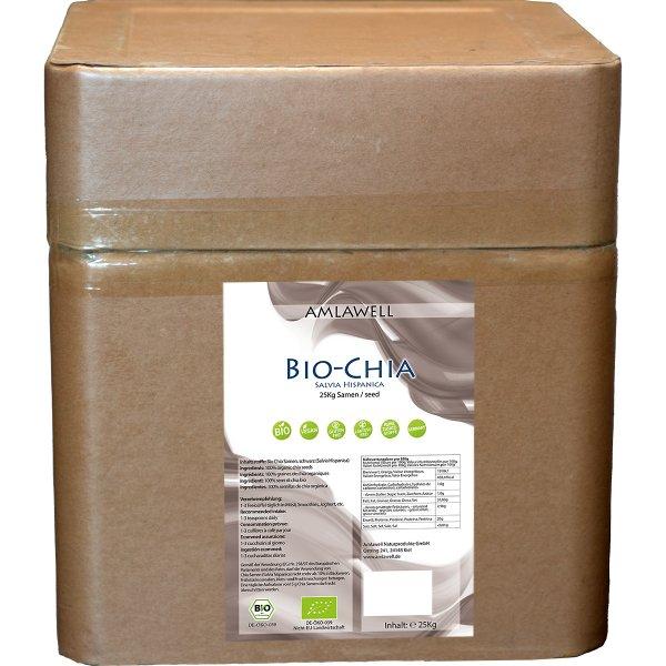 Amlawell Bio Chia Samen 25 kg (Salvia Hispanica) / DE-ÖKO-039