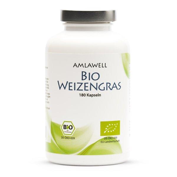 Amlawell Bio Weizengras / 180 Kapseln / DE-ÖKO-039