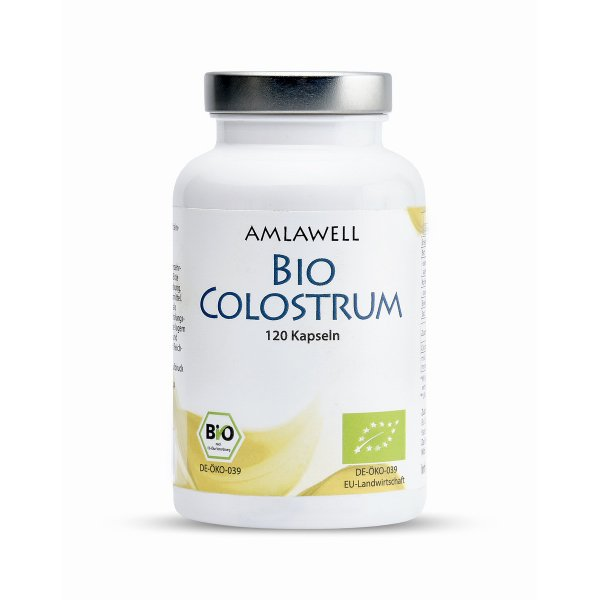 Amlawell Bio Colostrum / 120 Kapseln / DE-ÖKO-039