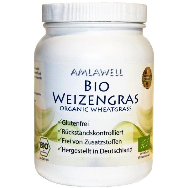 Amlawell Bio Weizengras Pulver / 500g / Dose / DE-ÖKO-039