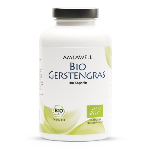 Amlawell Bio Gerstengras / 180 Kapseln / DE-ÖKO-039